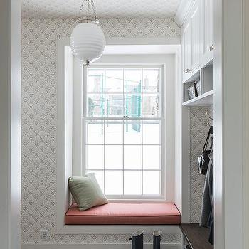 Mudroom with Built-in Window Seat, Transitional, Laundry Room
