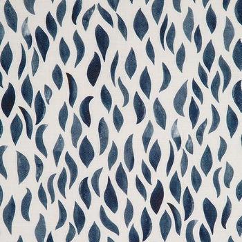 Navy Blue Petals Fabric
