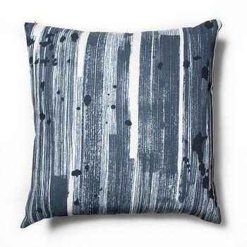 Brushstroke Blue Slate Pillow