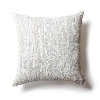 White Waves Natural Pillow