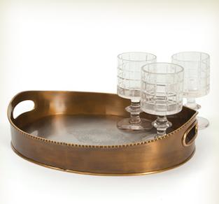 York Brass Oval Tray