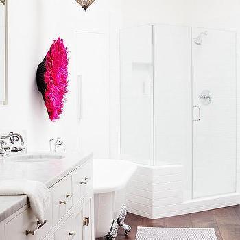 Master Bathroom with Silver Claw Foot Tub, Contemporary, Bathroom