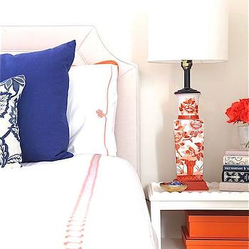 Bedroom with Pops Of Orange, Transitional, Bedroom