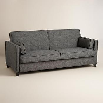 Charcoal Gray Nolee Folding Sofa Bed