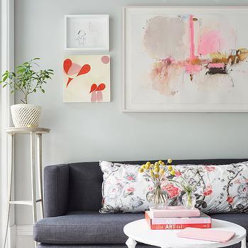 Blue Denim Sofa, Contemporary, Living Room