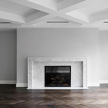 Living Room with Modern Coffered Ceiling, Modern, Living Room