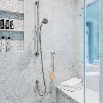 Walk in Shower with Window, Transitional, Bathroom