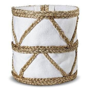 Nate Berkus Woven Basket with Canvas Liner
