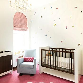 Pink and Blue Nursery, Contemporary, Nursery