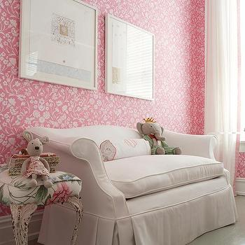 Pink Shabby Chic Kids Room, Transitional, Girl's Room