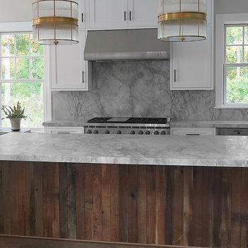 Kitchen with Salvaged Wood Island, Contemporary, Kitchen