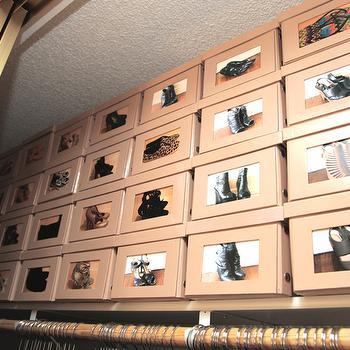 Shoe Boxes with Polaroids, Transitional, Closet