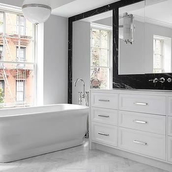 Modern Black and White Bathroom, Modern, Bathroom