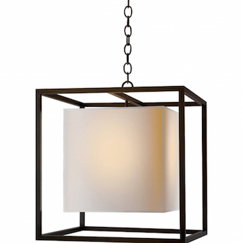 Medium Caged Lantern with Paper Shade Look for Less