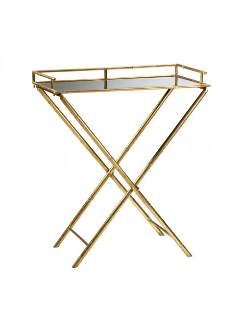 Golden Metallic Tray Table Look for Less