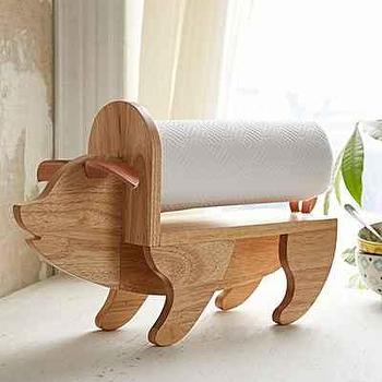 Assembly Home Pig Paper Towel Holder