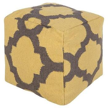 Frontier Sunflower Mustard Yellow Pouf