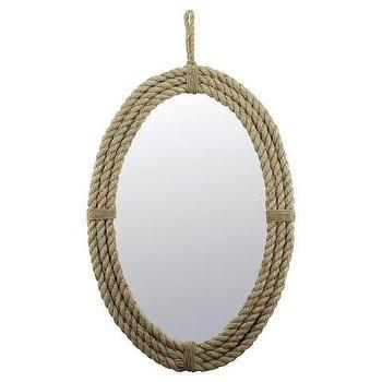 Rope Oval Mirror with Loop Hanger Rope