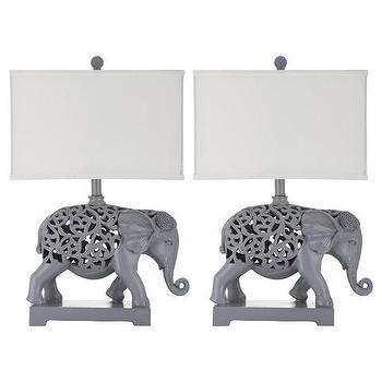 Safavieh Hathi Gray Elephant Sculpture Table Lamp