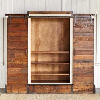 Yorkville Planks Sliding Door Entertainment Cabinet