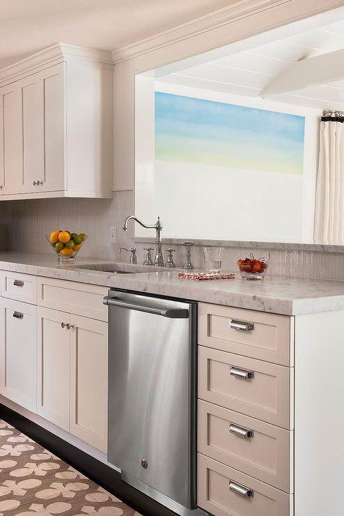 Kitchen Pass Through Over Sink, Transitional, Kitchen