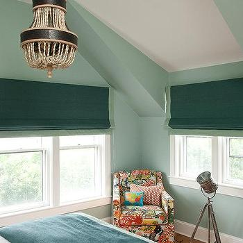 Green on Green Bedrooms, Transitional, Bedroom