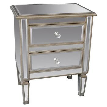 Eden Mirror Antique Silver Accent Table