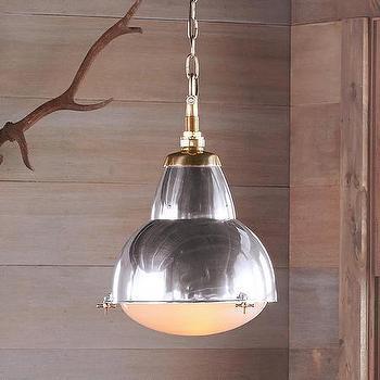 Robert Redford Cortland Polished Aluminum Pendant Lamp