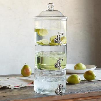 Robert Redford Triple Play Glass Drink Dispenser