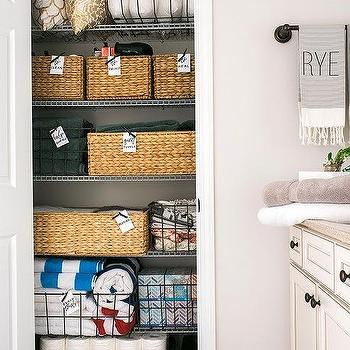 Organized Linen Closet, Transitional, Bathroom