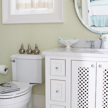 White and Green Kids Bathrooms, Transitional, Bathroom