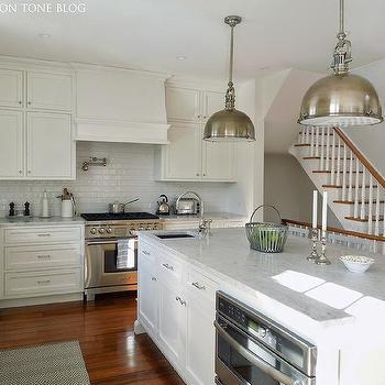 Island with Corner Prep Sink, Transitional, Kitchen
