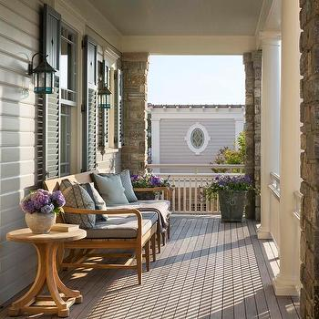 Cottage Veranda with Gray Shutters, Cottage, Deck/patio