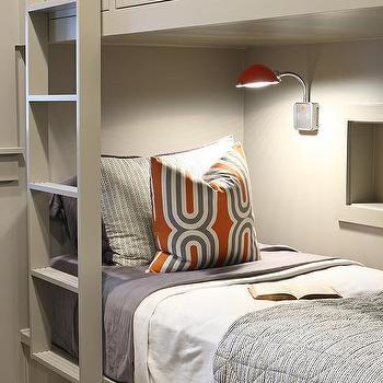 Gray and Orange Boys Bedrooms, Contemporary, Boy's Room