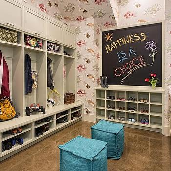Mudroom with Concrete floors, Transitional, Laundry Room