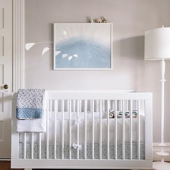 White and Gray Boys Nursery, Transitional, Nursery