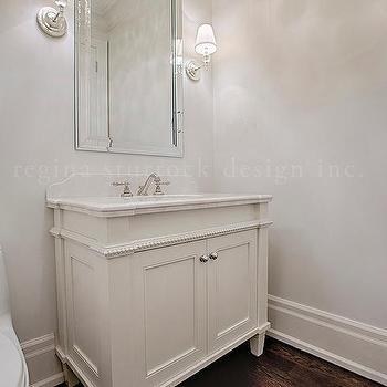 Beaded Bathroom Vanity, Transitional, Bathroom
