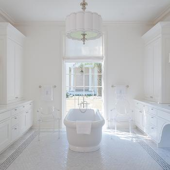 Ghost Chairs in Bathrooms, Transitional, Bathroom