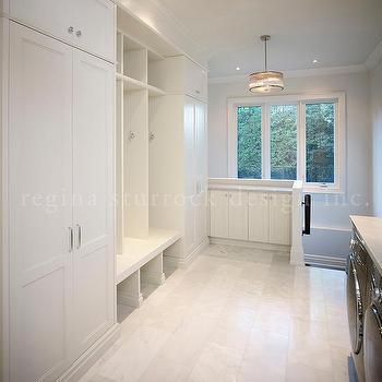 Mudroom and Laundry Room Combo, Transitional, Laundry Room