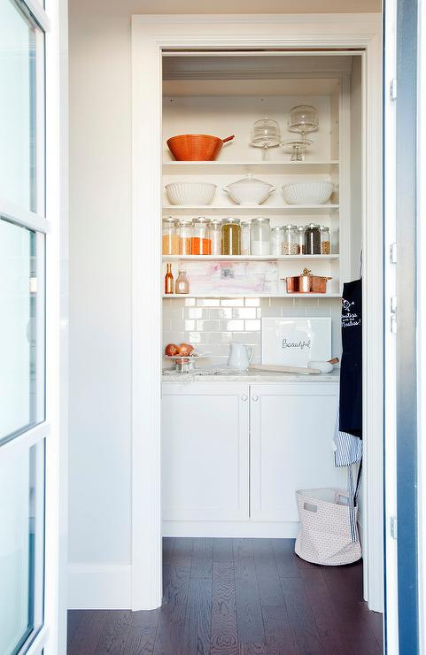 Walk in pantry ideas transitional kitchen for Kitchen designs with walk in pantry