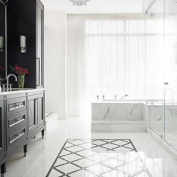 Marble Bathtub Steps, Contemporary, Bathroom