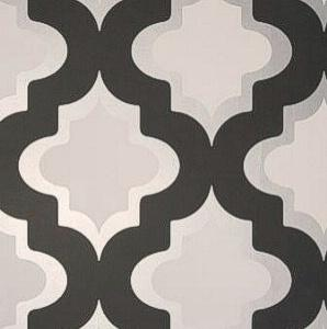 Clarke and Clarke Kasbah Black and White Wallpaper