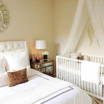 Tulle crib skirt design decor photos pictures ideas inspiration paint colors and remodel Master bedroom with a crib