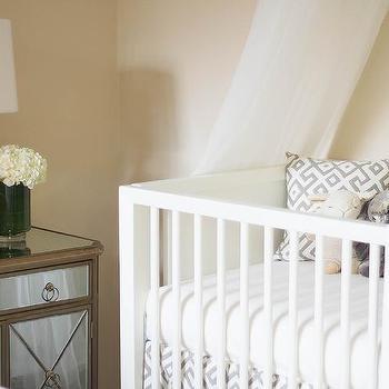 Nursery with Tulle Crib Canopy, Transitional, Nursery