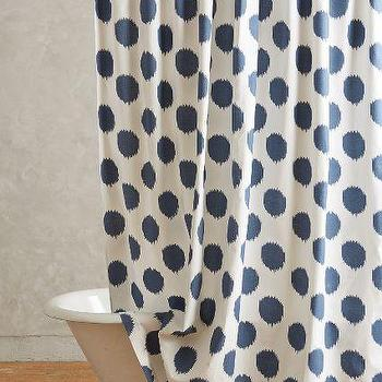 Ikat Dot Shower Curtain