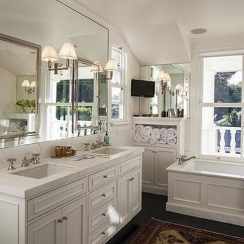 Bathroom with Wainscoted Tub, Transitional, Bathroom
