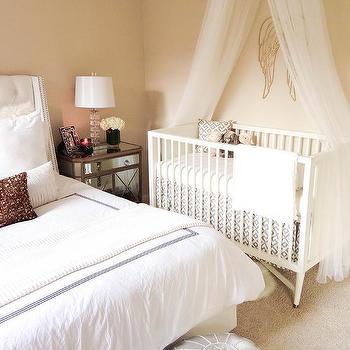 Crib in Master Bedroom, Transitional, Bedroom