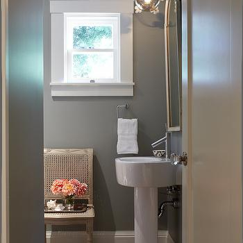 Romantic Powder Rooms, Transitional, Bathroom