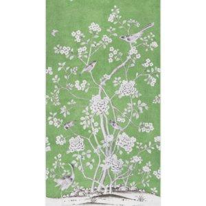 Schumacher Chinois Palais Lettuce Wallpaper