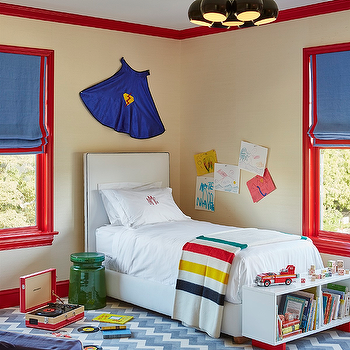 Red and Blue Boys Bedrooms, Contemporary, Boy's Room
